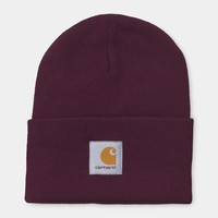 Acrylic Watch Hat in Merlot