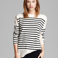 Vince Sweater - Linked Stripe Cashmere | Bloomingdale's