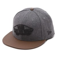 Vans Home Team New Era Hat (Charcoal Heather/Leather)