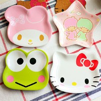 HELLO KITTY frog cute appetizers dish star shape cat plate dog bowl cake display dish small dish gift