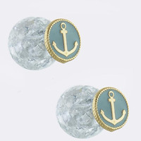 Double Sided Anchor Earrings