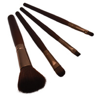 Professional 4 pcs Makeup Brush Set tools Comestic Toiletry Kit Wool Brand Make Up Brush Set for Beauty