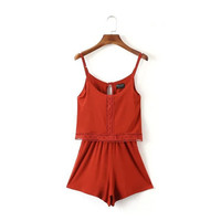 Women's Strappy Rompers [7279002567]