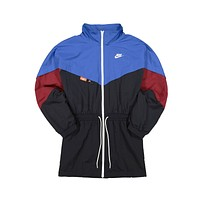Nike Women's NSW Icon Clash Woven Track Jacket Blue Black
