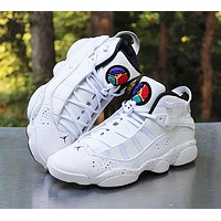 Nike AIR JORDAN 6 RINGS AJ6 Fashion Women Men Casual Sport Basketball Shoes Sneakers