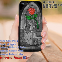 Red Rose Beauty and The Beast iPhone 6s 6 6s+ 5c 5s Cases Samsung Galaxy s5 s6 Edge+ NOTE 5 4 3 #cartoon #disney #animated #BeautyAndTheBeast dl8