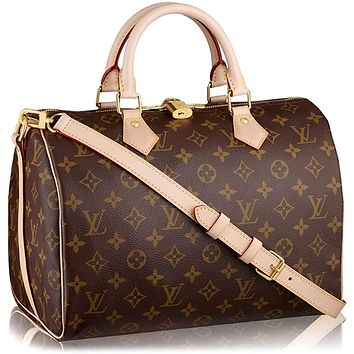 Louis Vuitton Monogram Canvas Speedy Bandouliere 30 Article:M41112 Made in France