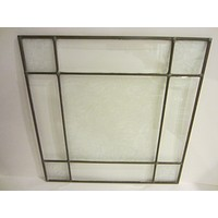 Beveled Glass Square Window Panel Decorated Flowers