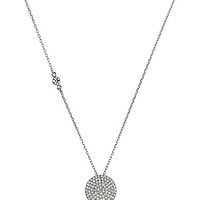 Michael Kors Pave Disc and Stone Station Pendant Necklace - Rose Gold