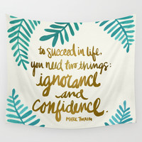 Ignorance & Confidence #1 Wall Tapestry by Cat Coquillette