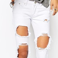 Liquor & Poker Skinny Jeans With Extreme Distressing Ripped Knees