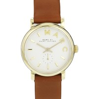 Marc By Marc Jacobs   Marc By Marc Jacobs Baker Mini Brown Leather Strap Watch at ASOS