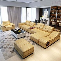Splendid Ultra Modern Newly Designed Leather Sectional Sofa Set