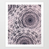 BOHOCHIC GIRL MANDALAS Art Print by Nika