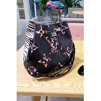 LV fashion hot selling casual lady printed face Mosaic shopping shoulder bag