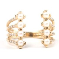 Catbird :: Jennie Kwon :: Stacked Diamond and Pearl Ring