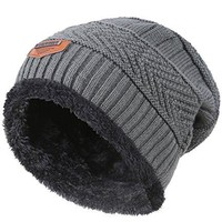 Winter Knitting Wool Skull Cap