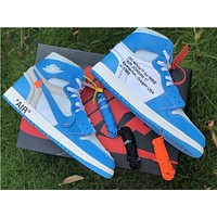 The 10: Off White X Air Jordan 1 North Carolina Sneaker