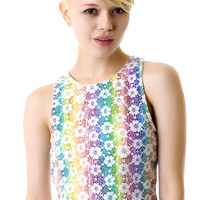 MinkPink Daisy Rainbow Crop Top