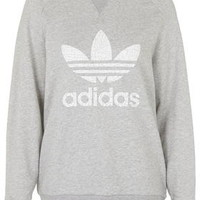 Big Logo Sweat by adidas Originals - Grey Marl
