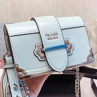 Prada New fashion leather chain shoulder bag crossbody bag
