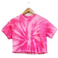 NEON COLLECTION: Rose Tie-Dye Unisex Cropped Tee
