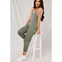 Better Than Your Birthday Suit Jumpsuit (Olive)