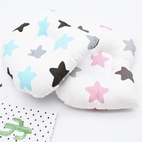 Newborn Cotton Stereotyped Pillow Baby Anti-Eccentric Head Small Pillow Baby Silk Toy Pillow Removable Children's Pillow