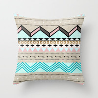 arrow tribal design Throw Pillow by daniellebourland