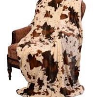 Minky and Sherpa Luxury Throw- Rodeo