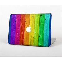 """The Rainbow Highlighted Wooden Planks Skin Set for the Apple MacBook Pro 15"""""""