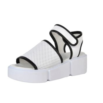 Sports Style Velcro Platform Shoes