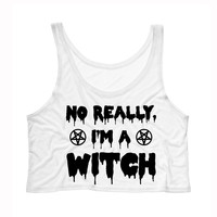No Really, I'm a Witch Crop Tank Top