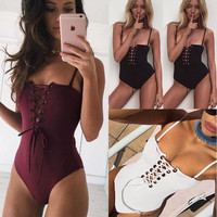 Bandage One Piece Swimsuit