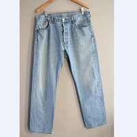 Levi's 501 Made in Canada W36 Vintage Levi's Jeans High Waist Mom Jeans Boyfriend Button Fly Hipster Boho #P040A
