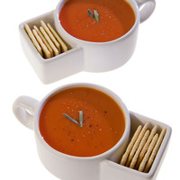 Soup & Cracker Mugs (set of 2)
