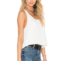 L'Academie The Swing Tank Blouse in Ivory | REVOLVE