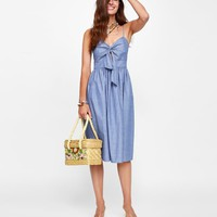 STRAPPY DRESS WITH KNOT DETAILS