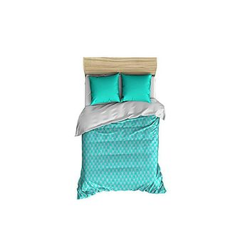 Scales Turquoise and Gray Small Comforter
