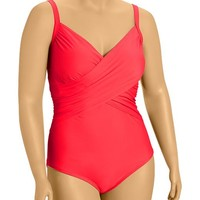 Old Navy Womens Plus Cross Front Control Max Swimsuits