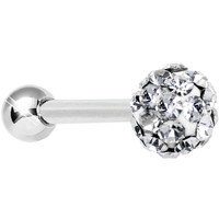 16 Gauge Clear Ferido Crystal Tragus Cartilage Earring 4mm Top   Body Candy Body Jewelry