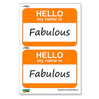 Fabulous Hello My Name Is - Sheet of 2 Stickers