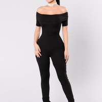 Meet You There Jumpsuit - Black