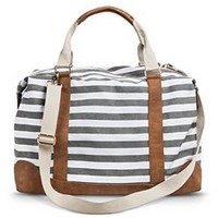 Women's Striped Weekender Handbag - Gray - Merona™