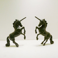 unicorn bookends // glossy grey home decor // by nashpop