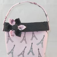 Little Girls' Pink and Black Paris Themed Purse
