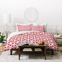 Allyson Johnson Cute little Hearts 1 Duvet Cover