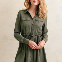Sycamore Shirt Dress In Green