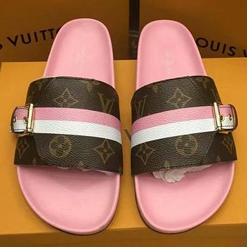 Louis Vuitton Women Fashion Slipper Sandals Shoes