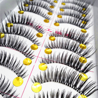10Pair/Lot Thick False Eyelashes Mink Eyelash Extension Fake Lashes Voluminous Makeup Fake Eyelashes Eye Lashes